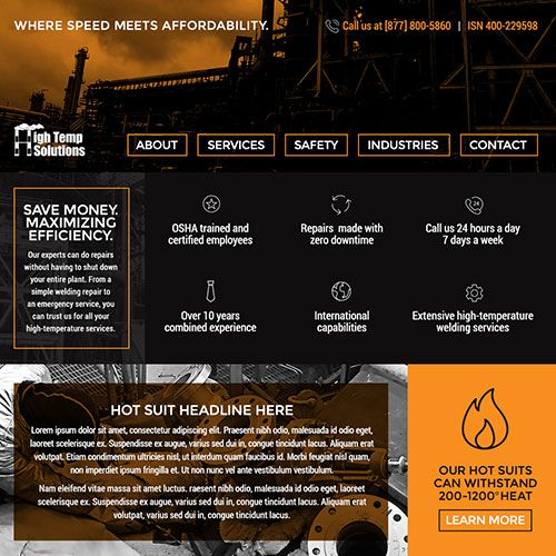 High Temp Solutions Web Design