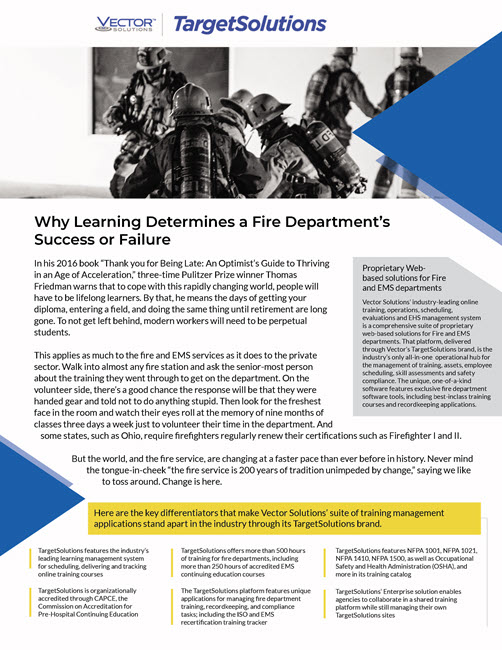 Whitepaper: Learning Determines a Department's Success or Failure